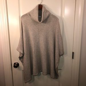 Caslon (Nordstrom) Oatmeal Poncho/Sweater s/med
